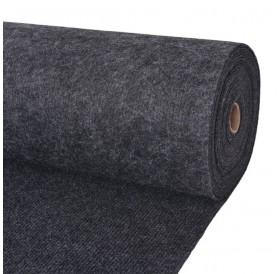 Exhibition carpet grooves 1.6 × 10 m anthracite