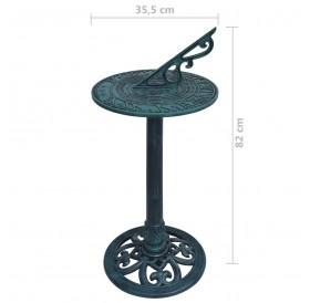 Sundial green 35.5 x 82 cm plastic