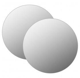 Wall mirror 2 pieces 60 cm round glass