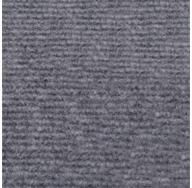 Exhibition carpet, grooves 1.6 × 10 m gray