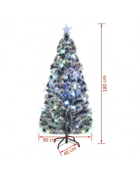 Artificial Christmas + steel rack / LED light 180 cm 220 branches