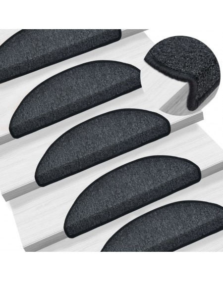 15 pcs. Stairmats anthracite 56 x 17 x 3 cm