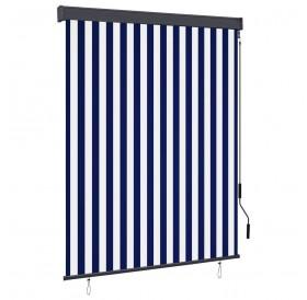 External roller blind 140x250 cm blue and white