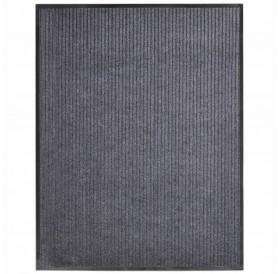 Door mat gray 160x220 cm PVC