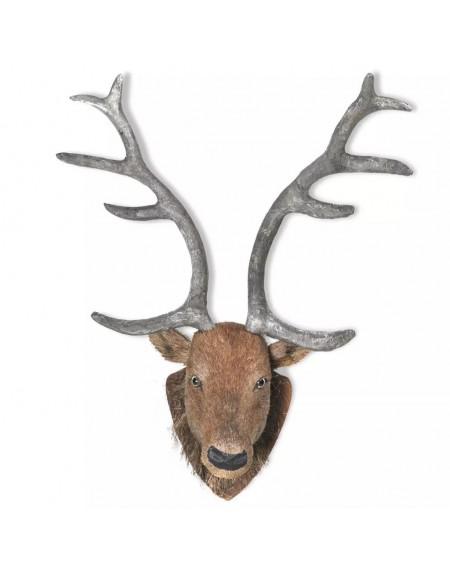Deer Head Wall Hang Natural Deco