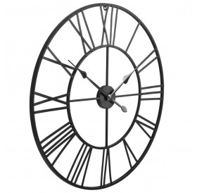 Vintage wall clock with quartz movement metal 80 cm XXL