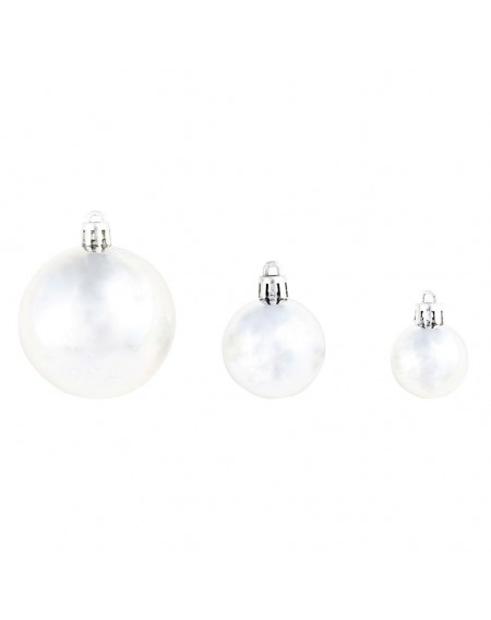 100 pcs. Christmas ball set 6 cm silver