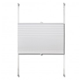 Pleated Blinds Plisse White Curtain 80x200cm
