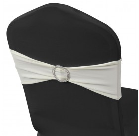 Wheelchair decorative bow buckle elastic 25 pcs Cream
