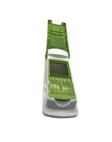 12Pc/Set Slicer Vegetable Fruit Peeler Dicer Cutter Chopper Grater Multifunctional ABS Green Kitchen Supplies Kit