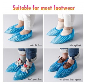 100PCS/50Pairs Shoes Cover Disposable Shoe Covers Shoe Boot Covers Waterproof Slip Resistant for Home Outdoor