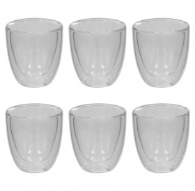 Double-walled thermo glass for espresso 6 pcs. 80 ml