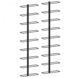 Wall wine racks for 18 bottles 2 pcs. Black iron
