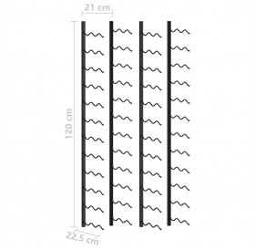 Wall wine racks for 48 bottles 2 pcs. Black iron