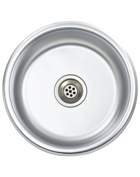 Built-in sink with strainer and siphon stainless steel