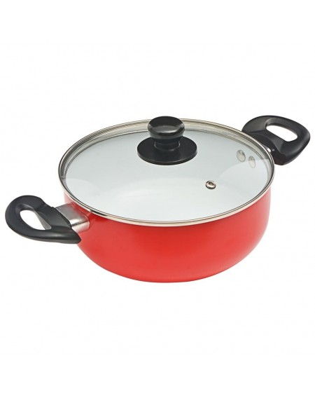 7 pcs. Cookware Set Red Aluminum