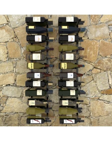 Wall wine racks for 72 bottles 2 pcs. Black iron