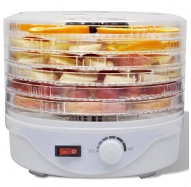 Dehydrator machine with 6 round trays