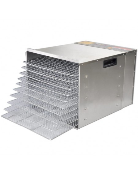 Dehydrator machine stainless steel with 10 trays