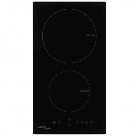 Induction hob with 2 burners Touch control panel Glass 3500 W