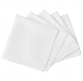 100 Dinner Napkins White 50 x 50 cm