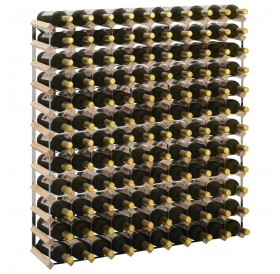 Wine rack for 120 bottles of solid pine wood