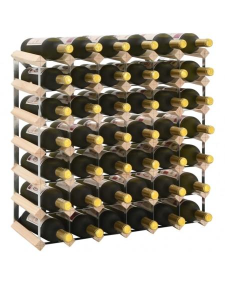 Wine rack for 42 bottles of solid pine wood
