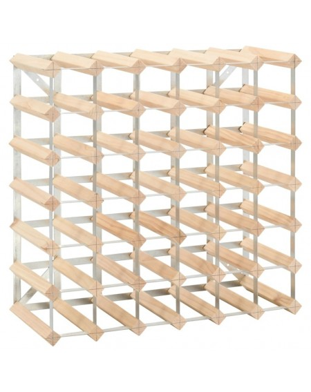 Wine rack for 42 bottles of solid pine wood