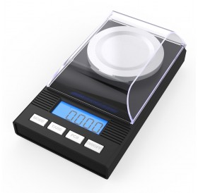 Homgeek High Precision Professional Digital Milligram Scale 50g/0.001g Mini Electronic Balance Powder Scale Black Gold Jewelry Carat Scale Digital Weight with Calibration Weight Tweezer and Weighing Pan