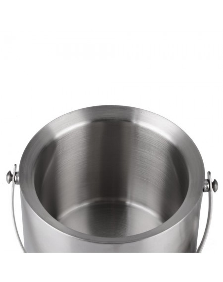 2L/3l Bilayer Stainless Steel Insulation Ice Bucket Wine Cold Barrel Wine Utensils Ice Buckets with Lid and Portable Handle