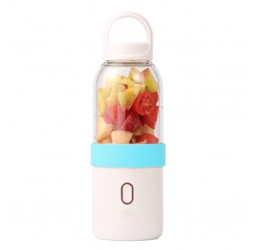 Portable Blender Juicer Cup Electric Automatic Water Bottle Blue