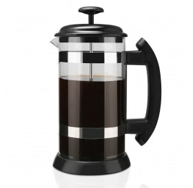 i cafilas 1000ml Stainless Steel French Press Pot Cafetiere Coffee Cup Borosilicate Glass Coffee Maker Tea Filter Tea Maker Scented Tea Herbal Tea French Press