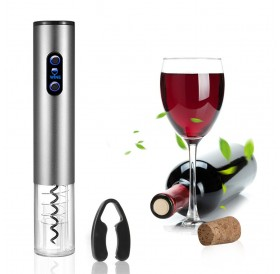 Electric Wine Opener Automatic Electric Wine Bottle Corkscrew Opener with Foil Cutter Automatic Corkscrew and Foil Remover