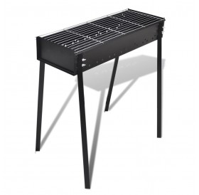 Square charcoal barbecue with stand