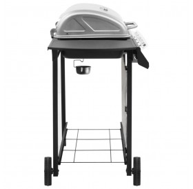 Gas grill barbecue with 4 burners Black and silver