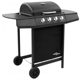 Gas grill with 4 burners black