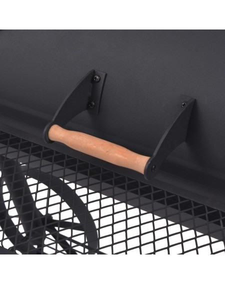 Charcoal grill and smoker with Black Heavy XXL shelf